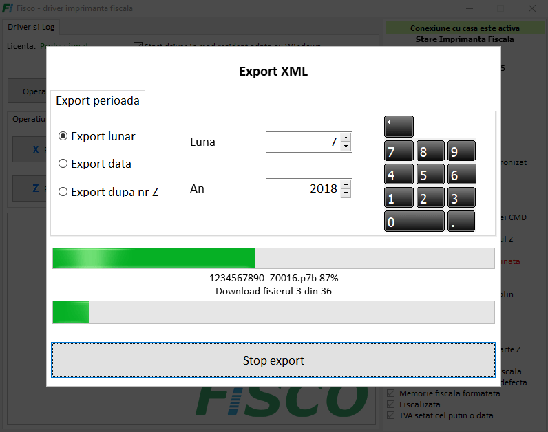 export xml anaf fisco